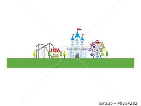 遊園地の施設風景 49354282