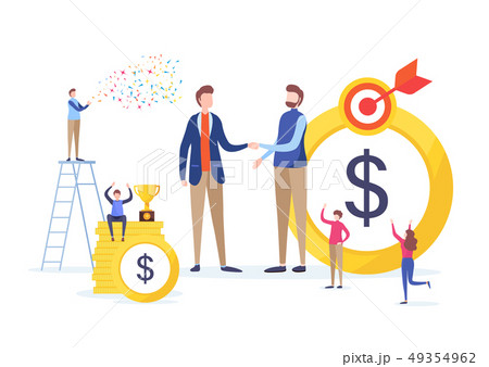 Hand shake of investor. Business financial concept 49354962