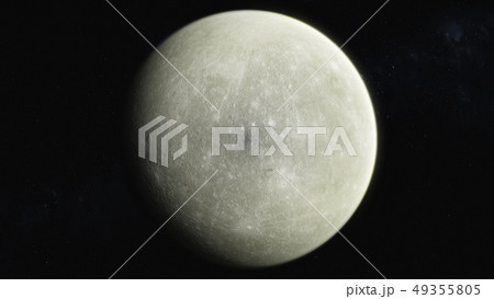 星空に輝く月 49355805