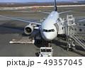 駐機中のボーイング777 新千歳空港 49357045