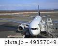 駐機中のボーイング777 新千歳空港 49357049