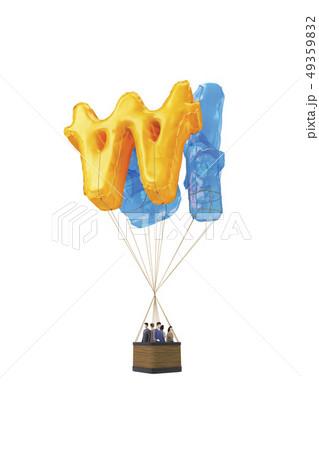 人 人間 熱気球 49359832