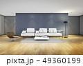 家具 リビングルーム ソファのイラスト 49360199