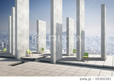 의자,기둥,수로,조형물 49360385