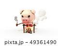 動物 豚 火 49361490