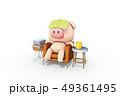 動物 豚 1 49361495