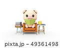 読書 動物 豚 49361498