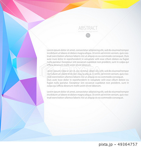 Color triangle background banner brochure template 49364757