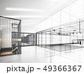 sketch design of interior hall, 3d rendering 49366367
