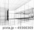 sketch design of interior hall, 3d rendering 49366369