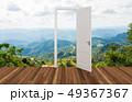 Landscape behind the opening door 49367367