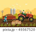 農民 じゃが芋 人のイラスト 49367520