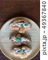 Croissant with Tuna Salad  Sandwich on wood table 49367840