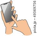 スマートフォン スマホ 操作のイラスト 49369756