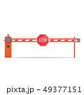 barrier with stop sign 49377151