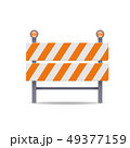 road barrier flat vector icon 49377159