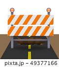 Reflective traffic barricade 49377166