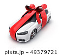 Car gift and red ribbon on isolated background 49379721