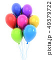 Colored balloon, isolated background 49379722