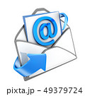 Email blue, isolated symbol 49379724
