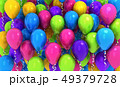 Many colours balloons, background 49379728