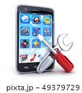 Phone repair symbol on white background 49379729