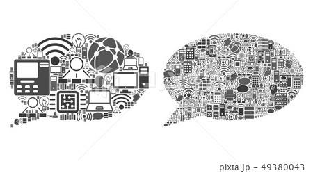 Cloud Computing Mosaic Icons for BigData Illustrations 49380043