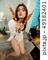食事をする 食事 食べるの写真 49382401