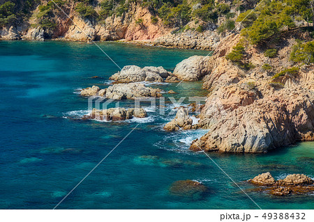 Aerial landscape picture from a Spanish Costa 49388432