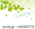 背景 グリーン 音符 新緑 49389779