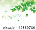 背景 グリーン 音符 49389780