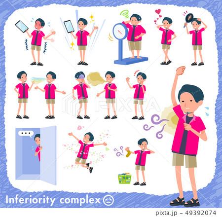 flat type pink shirt man_complex 49392074