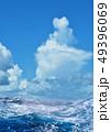 入道雲と荒波 49396069