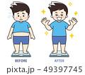メタボ ダイエット 痩せるのイラスト 49397745