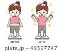 メタボ ダイエット 痩せるのイラスト 49397747