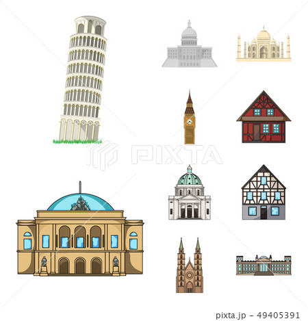 Vector illustration of building and city symbol. Collection of building and business vector icon for 49405391