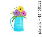 花 花束 カラフルのイラスト 49406111