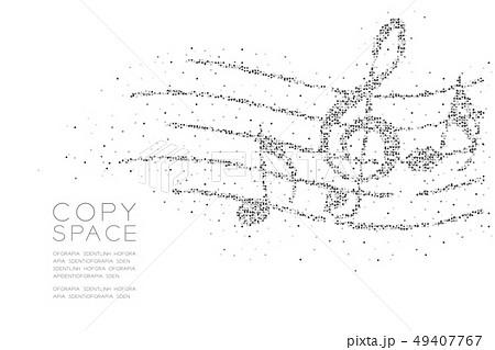 Abstract Geometric Square box pixel pattern Music 49407767