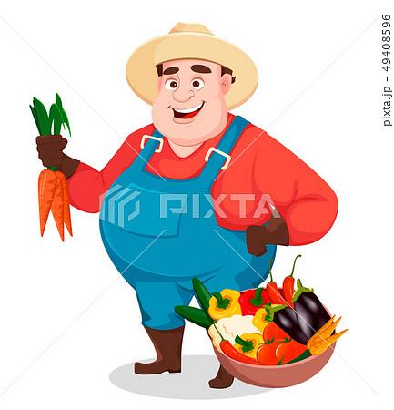 Fat farmer, agronomist. Funny gardener 49408596