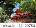 春日大社、銅製灯籠と中門、奈良県 49409758
