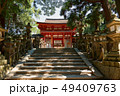春日大社、南門への石段、奈良県 49409763