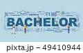 Design Concept Of Word Bachelor Website Banner. 49410944