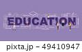 Design Concept Of Word EDUCATION Website Banner. 49410947