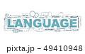 Design Concept Of Word LANGUAGE Website Banner. 49410948
