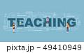 Design Concept Of Word TEACHING Website Banner. 49410949