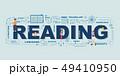 Design Concept Of Word READING Website Banner. 49410950