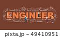 Design Concept Of Word ENGINEER Website Banner. 49410951