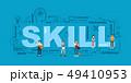 Design Concept Of Word SKILL Website Banner. 49410953