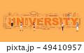 Design Concept Of Word University Website Banner. 49410957