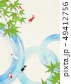 金魚 青紅葉 夏のイラスト 49412756